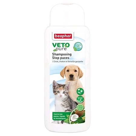 BEAPHAR VETOPURE SHAMPOING ANTIPARASITAIRE CHIOTS ET CHATONS 250ML