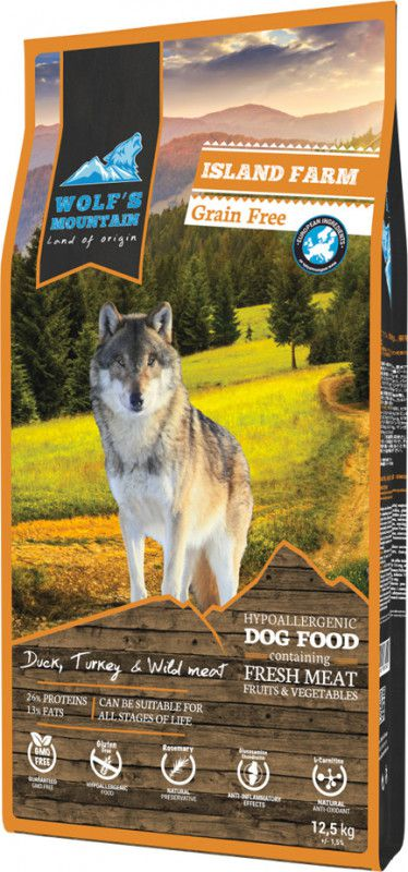 WOLF'S MOUNTAIN CHIEN ISLAND FARM 12,5 KG OU 2,5 KG