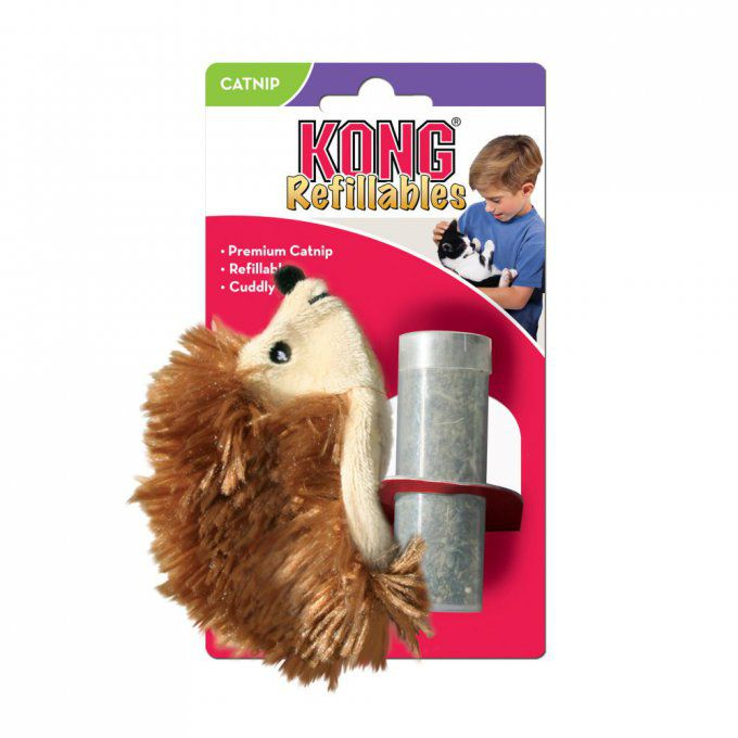 KONG HERBE A CHAT HÉRISSON RECHARGEABLE