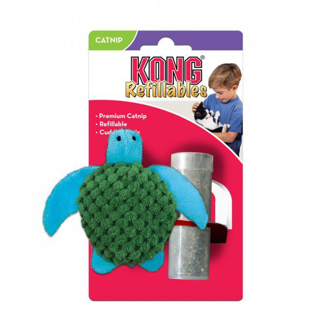 KONG HERBE A CHAT TORTUE RECHARGEABLE