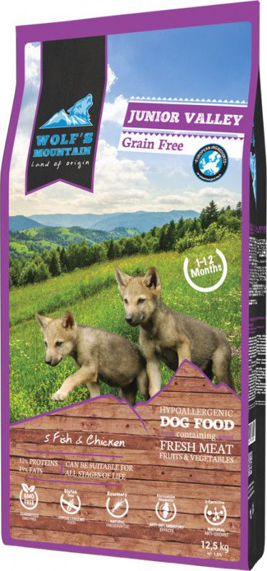 WOLF'S MOUNTAIN CHIOT JUNIOR VALLEY 12,5 KG OU 2,5 KG