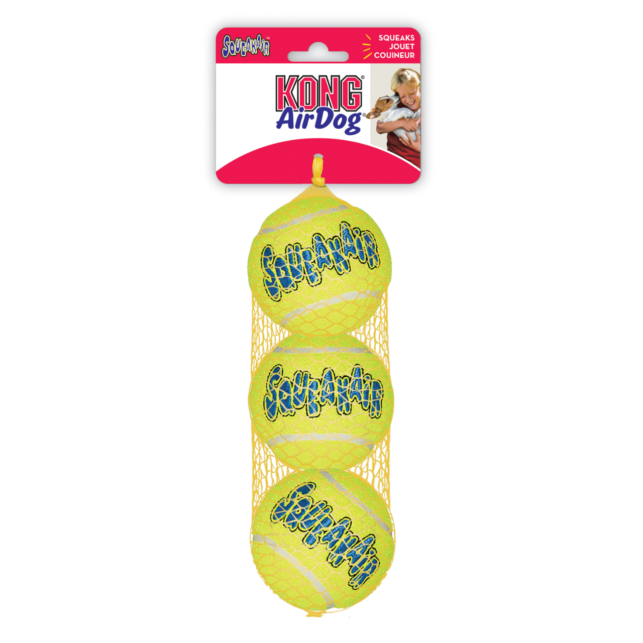KONG LOT DE 3 BALLE DE TENNIS 6CM