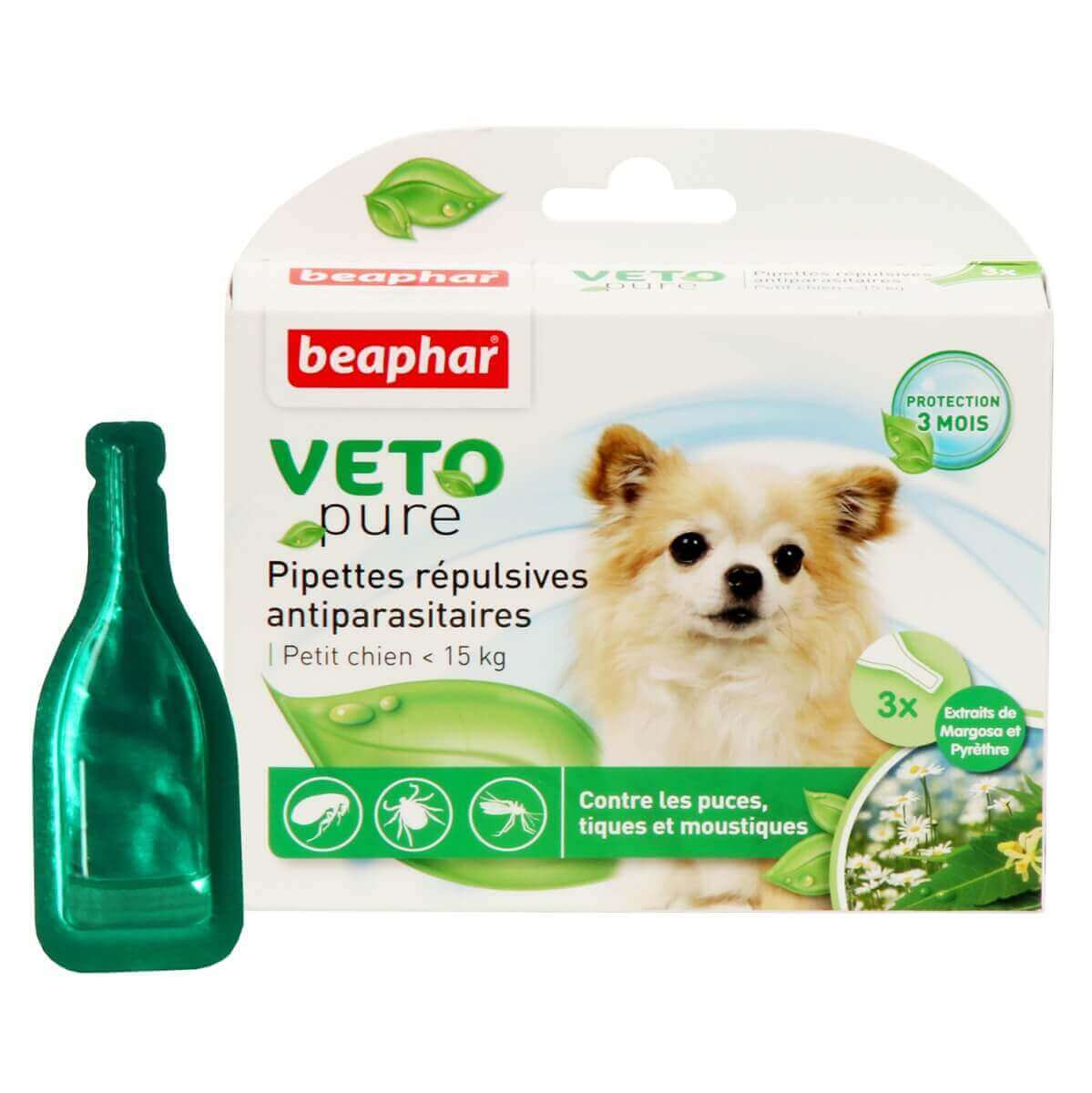 PIPETTES ANTIPARASITAIRES CHIEN  -15KG